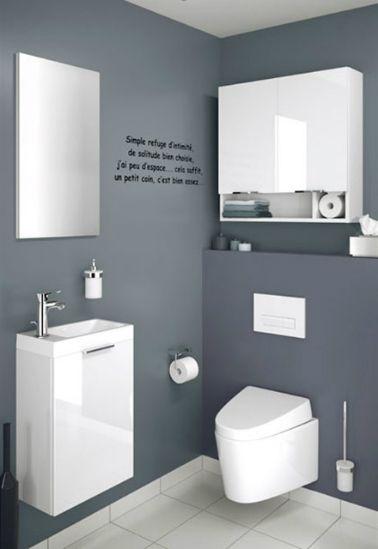 1000 id es sur le th me petite salle de bain troite sur pinterest salle de bains troite - Deco wc design ...