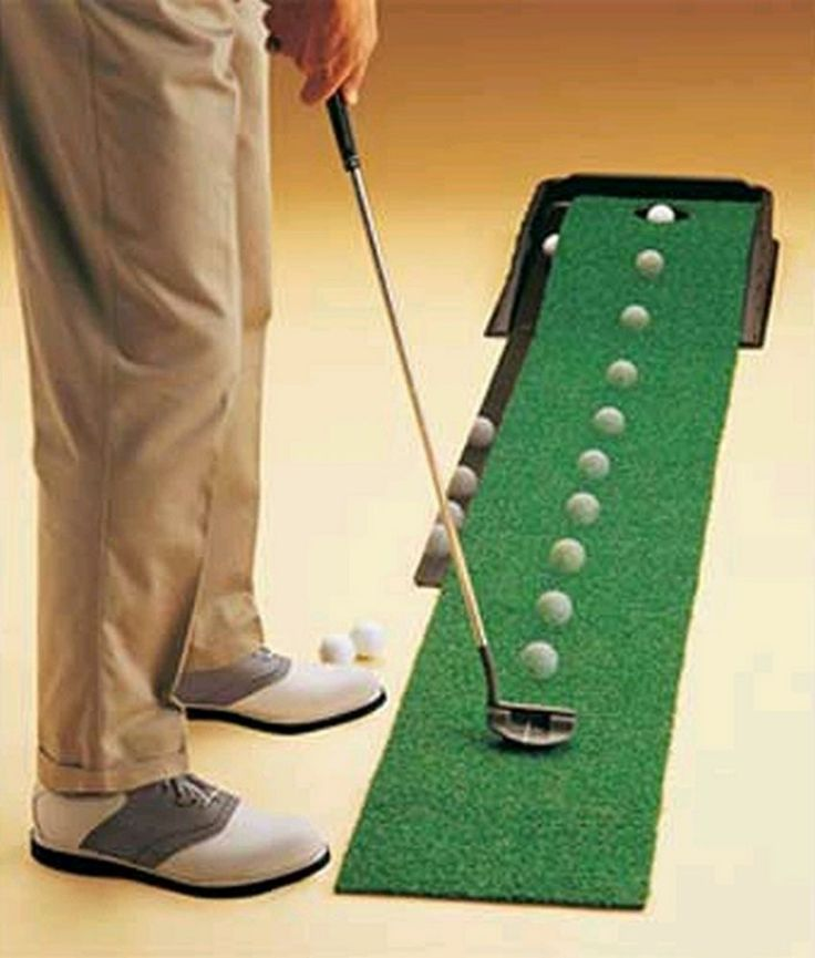 Practice Putting Green Indoor Golf Automatic System Hole Ball Return Mat System #ClubChamp