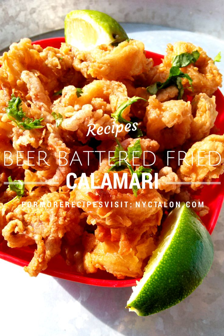 Amazing crispy Beer Battered Fried Calamari recipe! | nyctalon.com