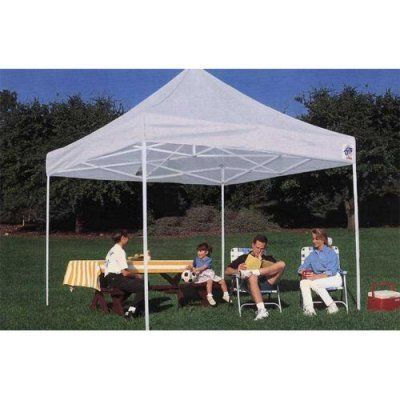 E-Z UP 10' x 10' Express II Steel Frame Canopy by International EZ UP Inc. $273.99. The E-Z UP 10 x 10 Express II Canopy is super-lightweight for increased portability. Ideal for craft fairs backyard parties and sporting events this shelter features a powder-coated anti-rust frame and a 250-denier polyester top in your choice of colors. The top stays attached to the frame for easy setup and tear-down and the unit folds easily for storage. When fully open the spa...