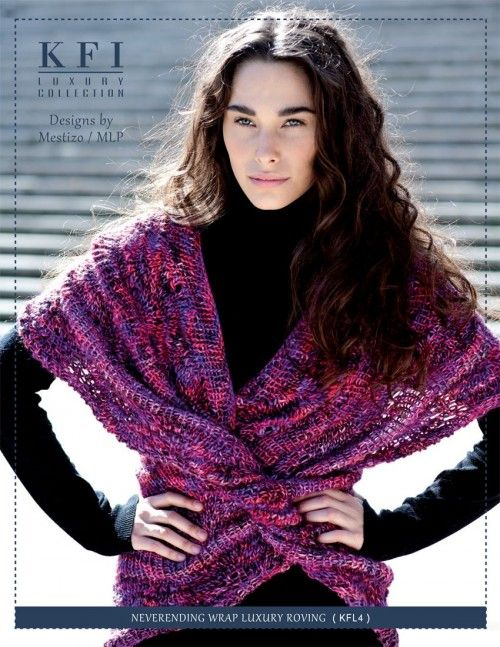 Luxury Roving Neverending Wrap - KFL4 from  by KFI Luxury Collection at KnittingFever.com