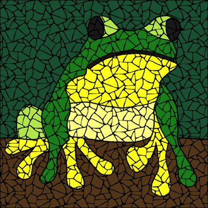 Treefrog Mosaic Kit   Pattern, Instructions, U0026 Ceramic Tiles. Designs By  Brett Campbell