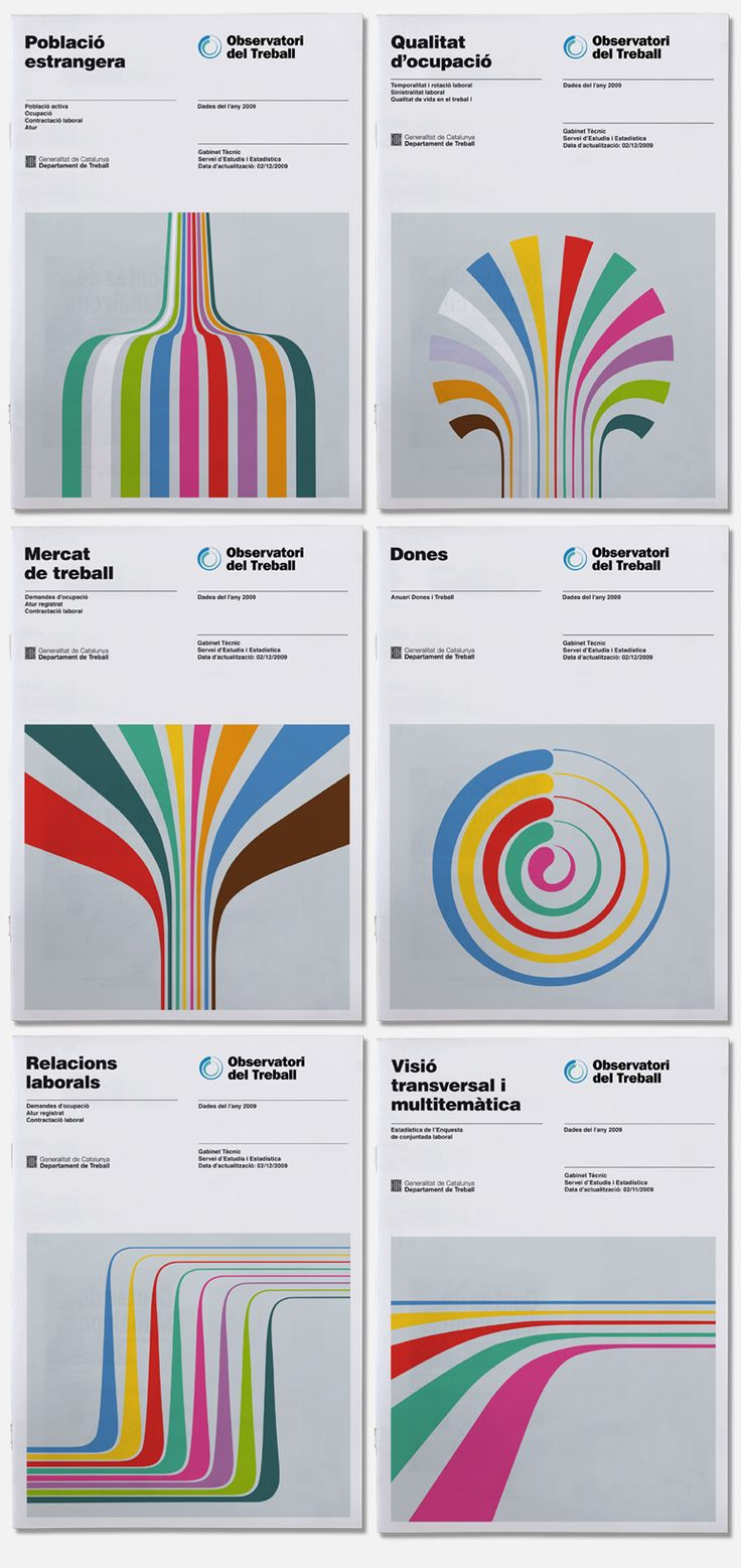 They remind me of 70's, just a little, but I like these monographs made by Hey studio for Observatori del Treball.