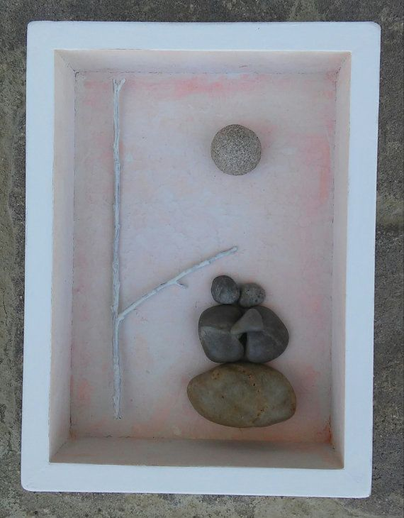 Pebble Art / Rock Art couple wedding anniversary by CrawfordBunch