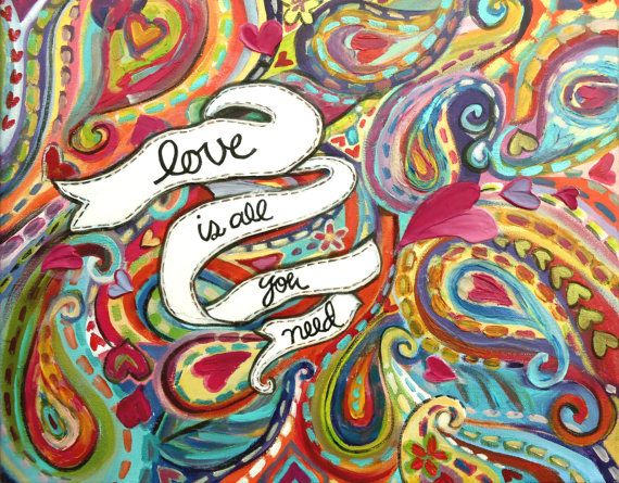 Love is All You Need  20 x 16 Acrylic Painting by AtelierBaba