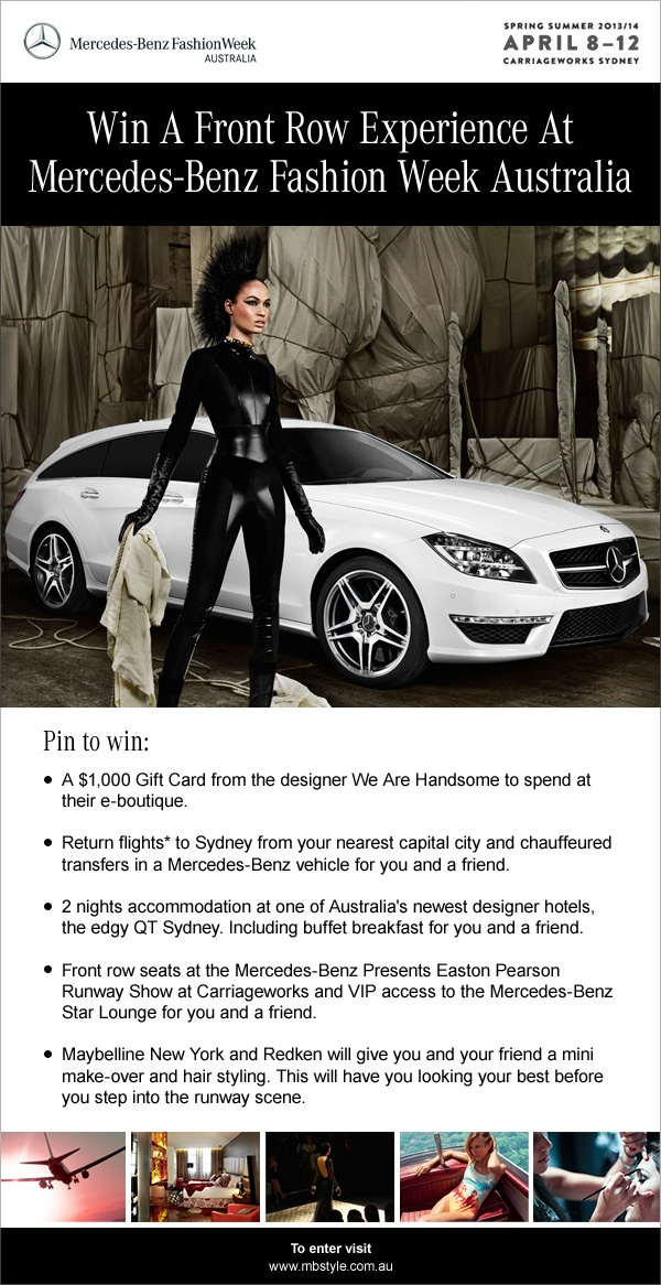 Win a Front Row Experience at Mercedes-Benz Fashion Week Australia