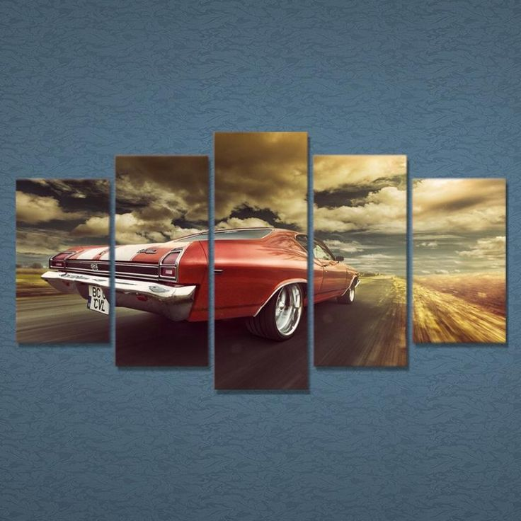 Chevrolet Chevelle Red Car Leinwand Wandkunst