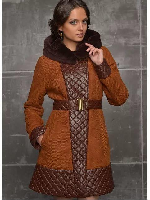 пальто из ткани комбинир с кожей: 15 тыс изображений найдено в Яндекс.Картинках
