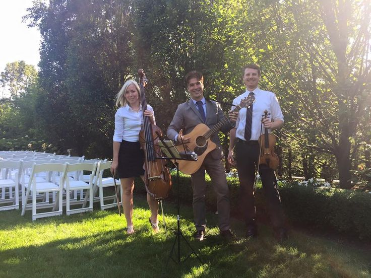 Our LIVE trio performing a beautiful ceremony at the lovely Graydon Hall Manor