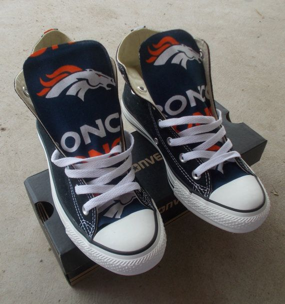 Denver Broncos Converse Shoes by FreeStreetShop on Etsy