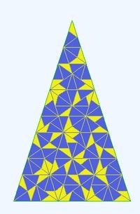 Pavage de Penrose de type zéro (déterminé par algorithmes, prix Nobel 2011)