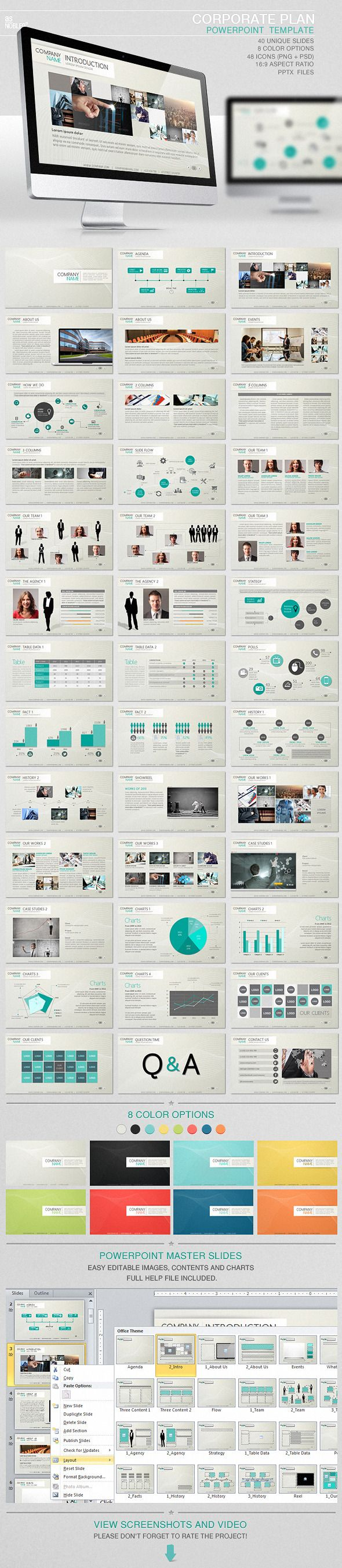 Corporate Plan PowerPoint Template - PowerPoint Templates Presentation Templates