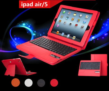 Smart Leather Ipad Air Keyboard Cover IP505 | Cheap Ipad Cover, Iphone Cover, Cell-phone Case With Keyboard For Sale