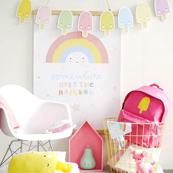 #Ijs #slinger #pastel - #ALittleLovelyCompany #icecream #garland #kidsroom #kinderkamer #kinderzimmer #kidsparty #babyshower #decoration #littlethingz2