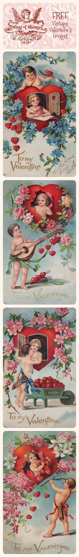 1910 Cherub Flirts – free printable