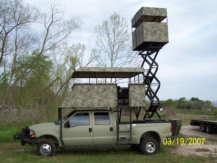 Critter gitters dually scissor lift hunting platform for Deer hunting platforms