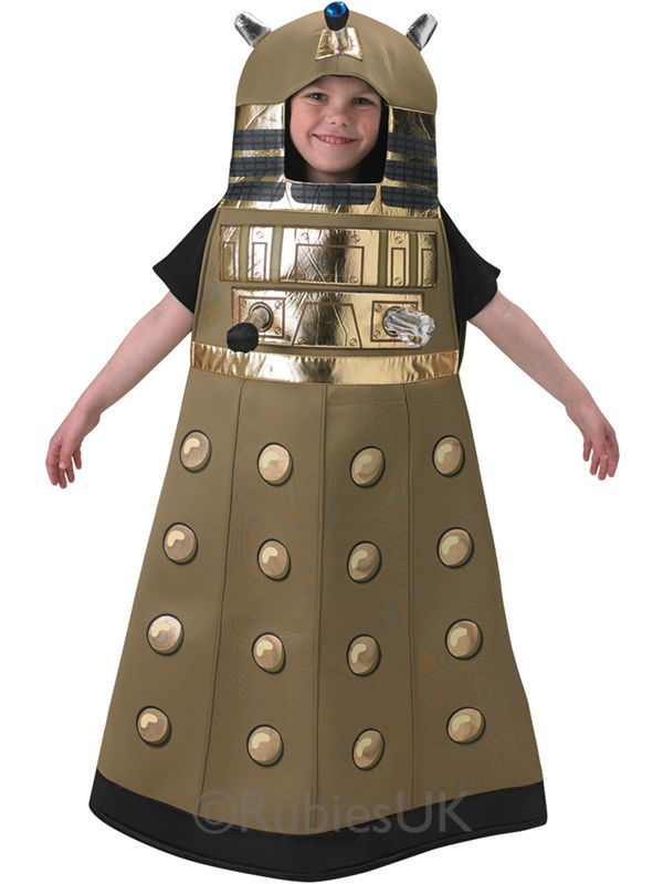 Child 7-8 Yrs Doctor Who Dalek Party Fancy Dress Costume Kids Boys