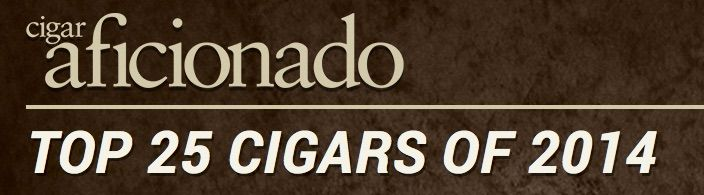 How to Buy Cigar Aficionado Top 25 Cigars of 2014 - a click away at www.cuencacigars.com Cigar Aficionados one entire year of taste tests. Hundreds of cigars turned to ash. Round after round of smoking cigars blind. Through the considerable haze of smoke and finally they let us see the winners: Cigar Aficionado has chosen the Top 25 Cigars of 2014.