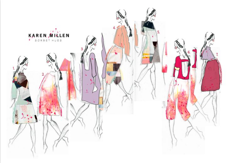 Karen Millen brief-Product illustrations by Hannah Brook