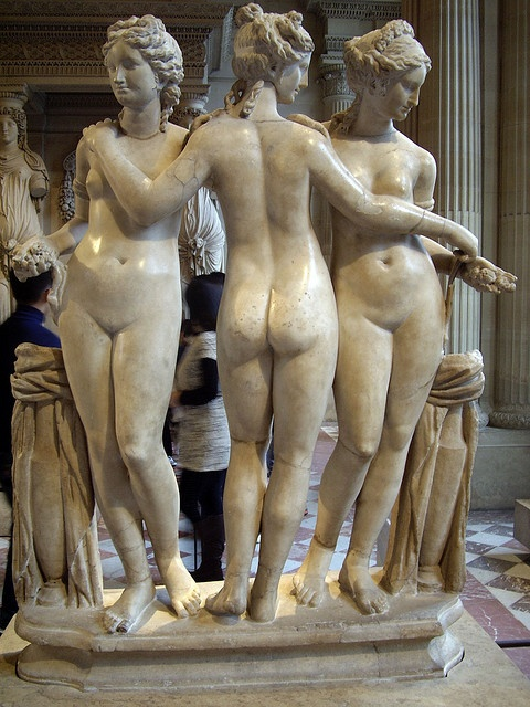 three graces, one of my favourite statues.