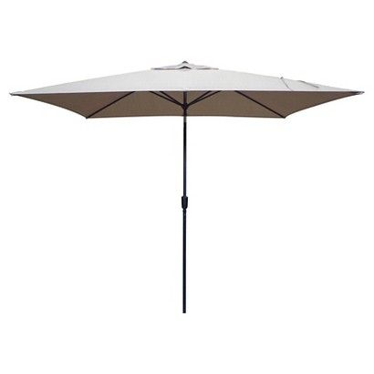 6.5x10ft Rectangular Patio Umbrella - Threshold™ - Tan