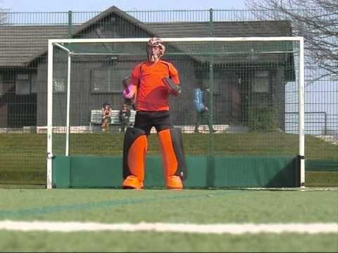 Field hockey goalie diving drill - YouTube