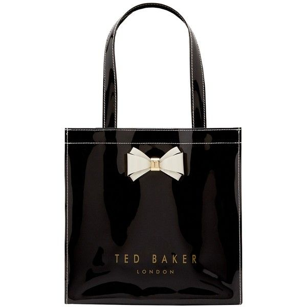 Ted Baker Aracon Small Shopper Bag , Black (£30) ❤ liked on Polyvore featuring bags, handbags, tote bags, black, ted baker tote bag, ted baker tote, ted baker handbags, bow handbag and bow purse