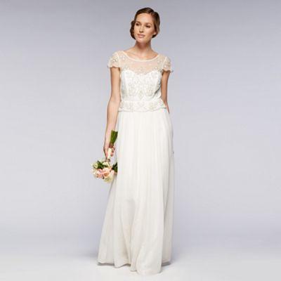 Debut Ivory embellished bridal dress- at Debenhams.com