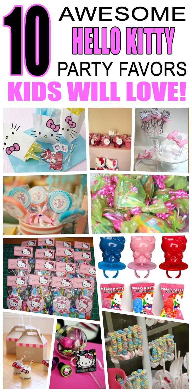 Great hello kitty party favors kids will love. Fun and cool hello kitty birthday party favor ideas for children. Easy goody bags, treat bags, gifts and more for boys and girls. Get the best hello kitty birthday party favors any child would love to take home. Loot bags, loot boxes, goodie bags, candy and more for hello kitty party celebrations.