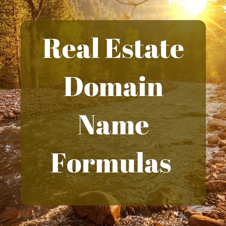 The Best Real Estate Domain Names & Examples For SEO