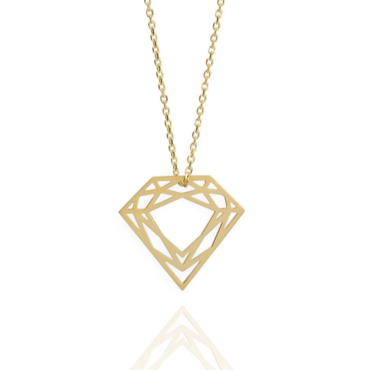Gold Classic Diamond Necklace | Myia Bonner | Wolf & Badger