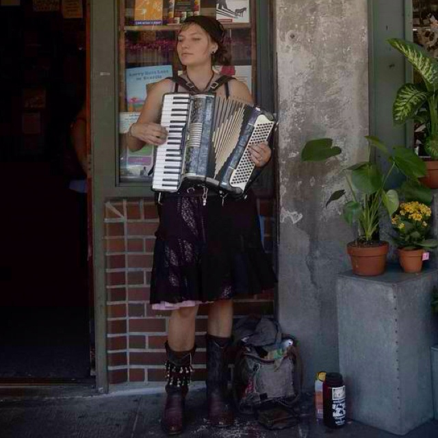 Gypsy girl on the Left Bank.