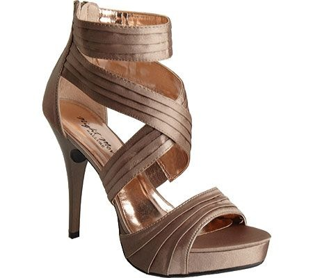 Bronze Silk Satin-Shoes-Womens Shoes-Womens Special Occasion Shoes
