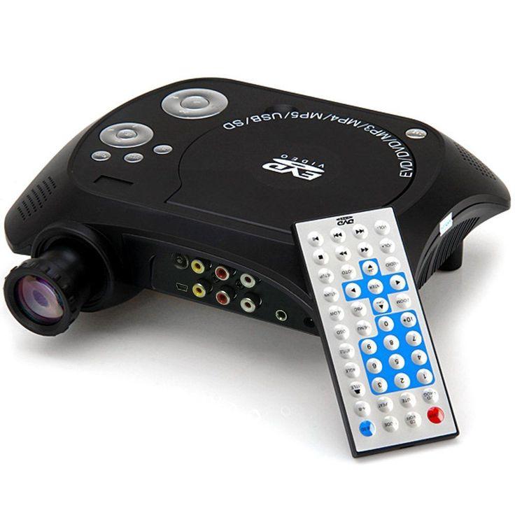 KSD-368 40 Lumens Home Theatre 480x320 Pixel USB Mini LED Portable DVD Projector