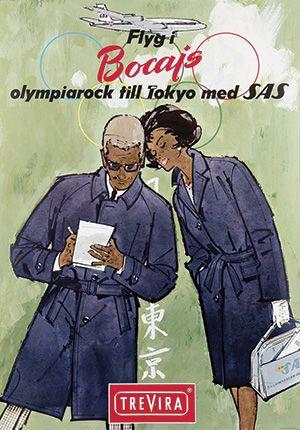 SAS - Flyg i Bocajs olympiarock till Tokyo med SAS - 1964 -