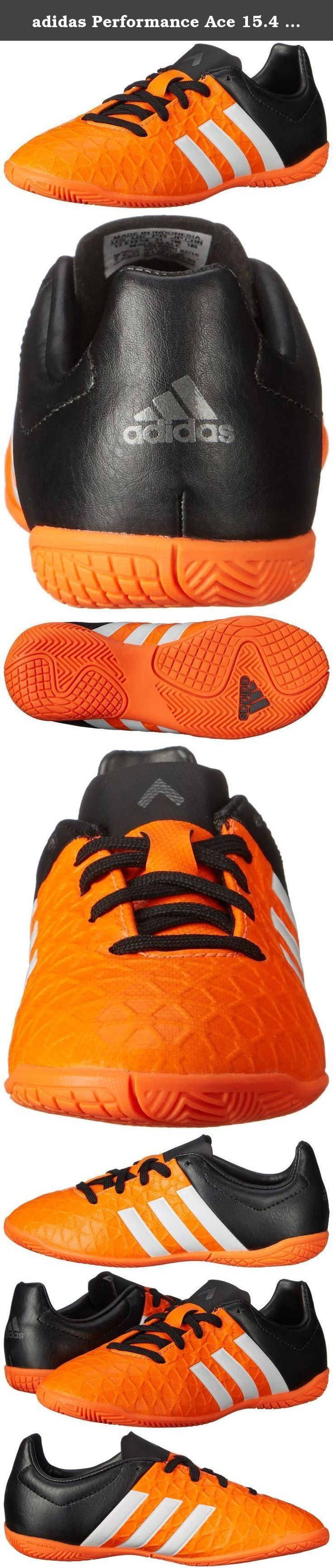 adidas Performance Ace 15.4 Indoor Soccer Shoe (Little Kid/Big Kid). Looking for the perfect kids' indoor soccer shoes to complete their kit our latest design takes comfort and performance to the next level with a wider construction, a super-soft lightweight upper, and powered-up traction to keep the ball (and the game) totally under your junior player's control.