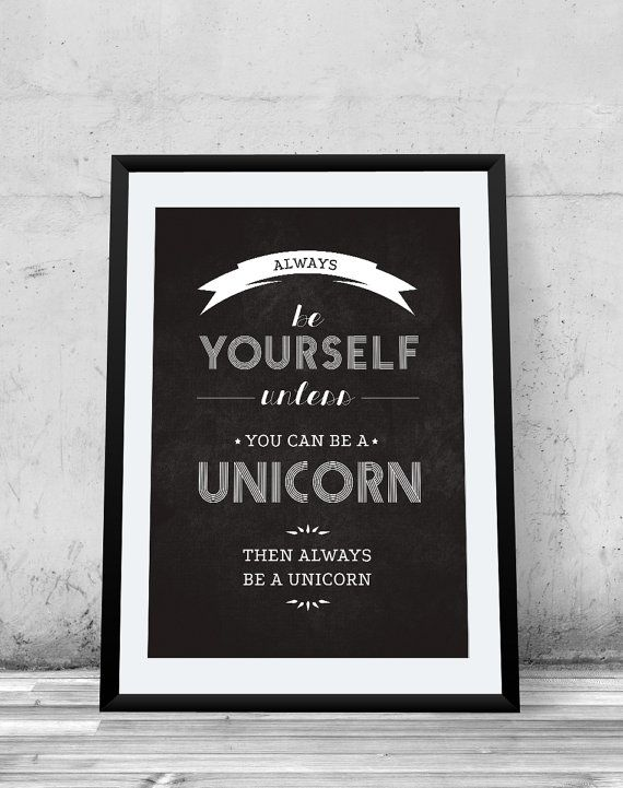 Last Unicorn Quote, Printable Poster, Chalkboard, Typographic, Peter S. Beagle, motivational, wall decor,
