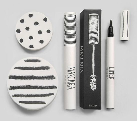 Gorgeous handdrawn make-up packaging