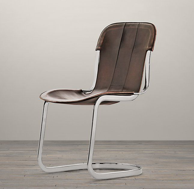 """Rizzo Leather Side Chair  24""""W X 17""""D X 33""""H $650 - $695REGULAR  $487 - $521MEMBER"""