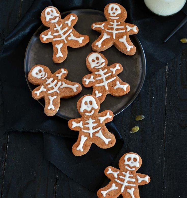 Sablés squelettes au chocolat : photo de la recette
