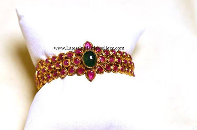 Traditional Ruby Kada Bangle