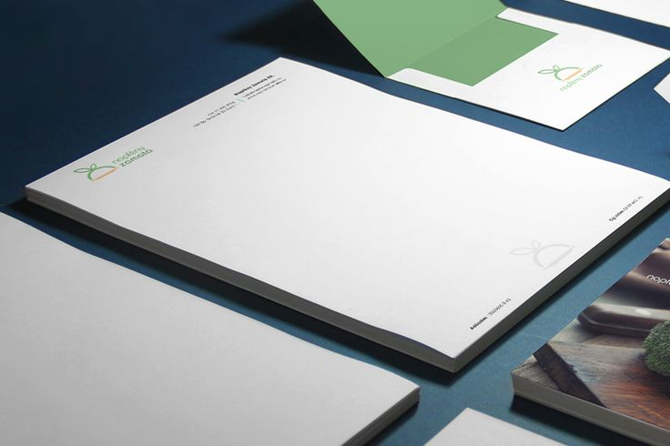 Letterhead, envelope and A5 ad
