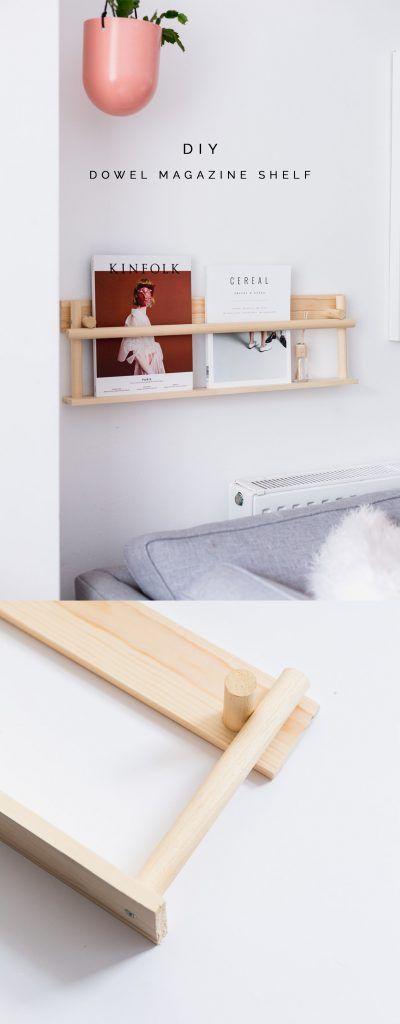 DIY Dowel Magazine Shelf Dies könnte einer meiner Lieblings-DIYs von allen sein …   – Woodwork