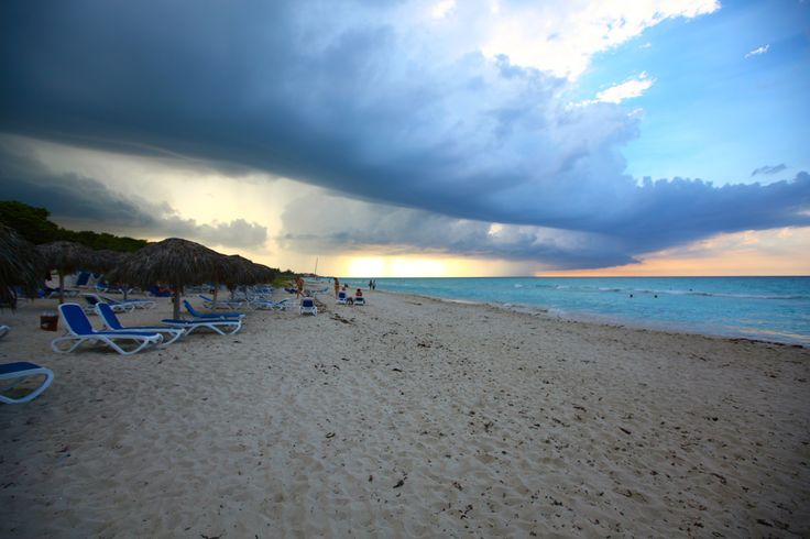 Sunset and clouds in Varadero, Cuba - Picturesque sunset and heavy clouds taken on the beach of Varadero, Cuba