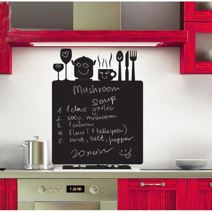 Mutfakta böyle bir duvar sticker olduktan sonra tarifleri yazmak dert olmayacak