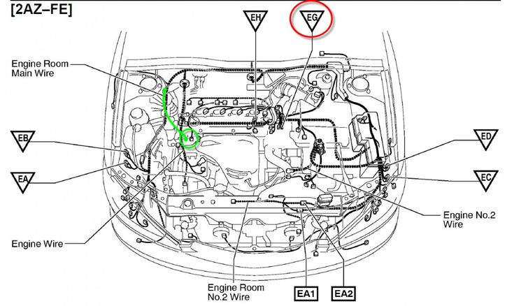 Toyota Corolla Engine Bay Diagram Di 2020