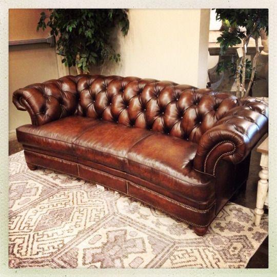 Randal Allen Chesterfield Leather Sofa