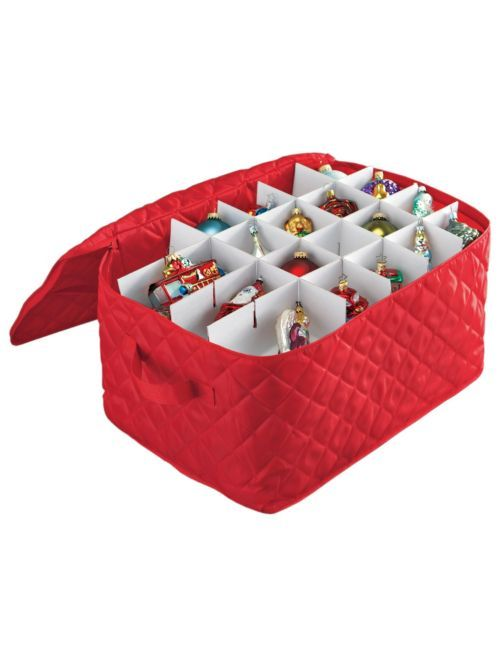 Cushioned Ornament Holder  Christmas Ornament Storage Box | Solutions