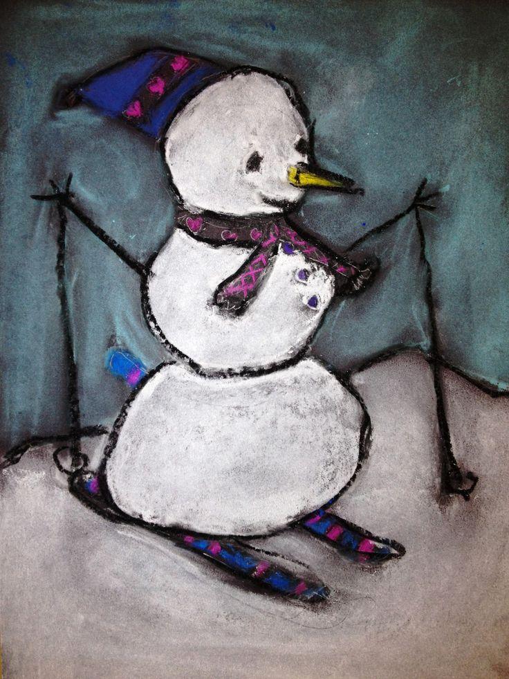 Hiihtävä lumiukko