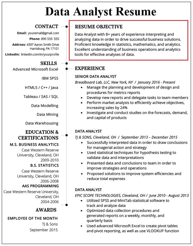 Data Analyst Resume [Your Best Guide] ResumeWritingLab